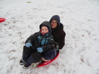 Sledding time..FINALLY!