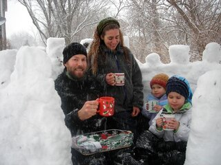 hot chocolate in our igloo