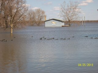Flooding at Rice Lake