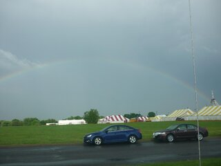 Rainbow over Washington Cherry Festival