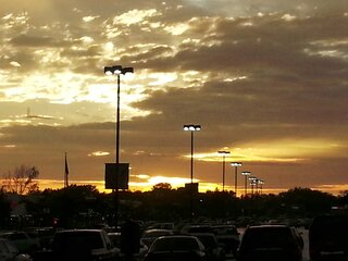 Sunset over Metro Centre
