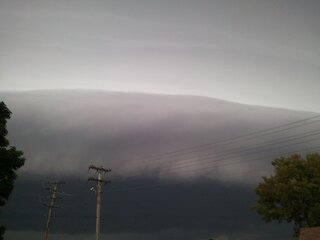 Incredible photogenic shelf cloud