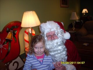 My neice and santa