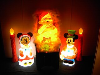 Mickey and Minnie Christmas with Pooh.