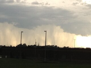 A curtain of rain in Normal, IL