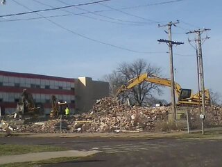 west campus coming down