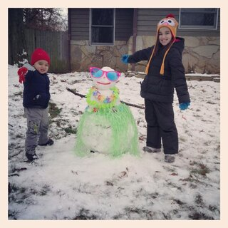 Zoe & Axl's Hula Snow Girl