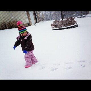 Lenay and her footprints