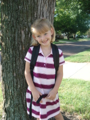 Lilys first day at kindergarten