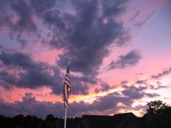 Red White and Blue Sunset