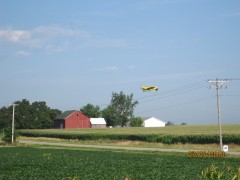 Yellow crop duster swooping in!!