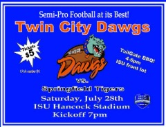 Twin City Dawgs vs. Springfield Tigers