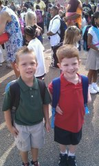JT and Ryan's first day of school