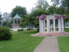 Founain and Bandstand in Gallipolis Ohio
