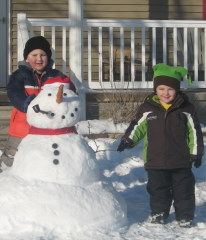 Jayson and Jake with Mr. Snowman!!!