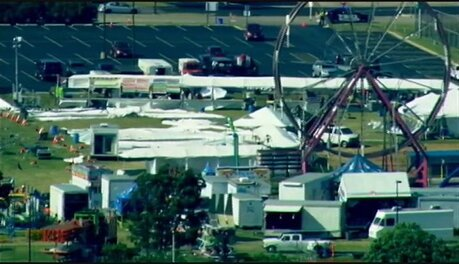 1 dead, several injured in tent collapse in suburban Chicago