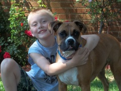 Benjamin and his boxer Bentley!