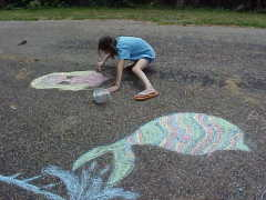 Chalk Art from a 9 year old