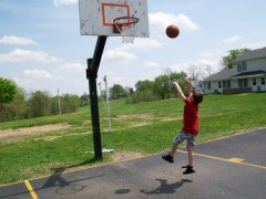 brandon playing basketball