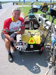 Jerry Lisenby has biked over 3000 Miles