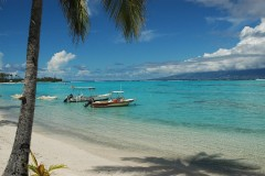 Tahiti beach; sun, sand and clear water