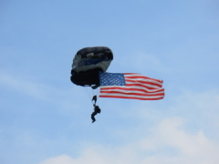 Paratroopers at Lincoln Balloon Fest