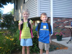 First day of School - Allison and Tyler