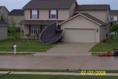 Trampoline Attacks House