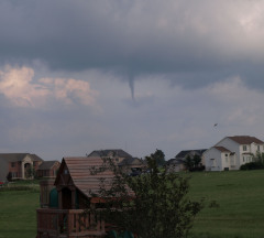 Funnel cloud Bloomington 7/30/2011 5:30p