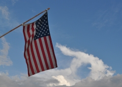 Old Glory and Blue Sky
