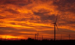 Sunrise over Eastern McLean County windfarm