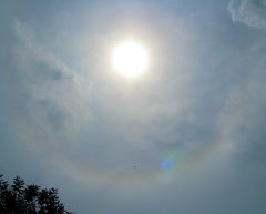 Rainbow around the sun