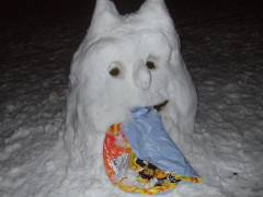 Beware of the Sled-Eating Snow Monster!