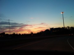 Beautiful Sunrise ove I-74