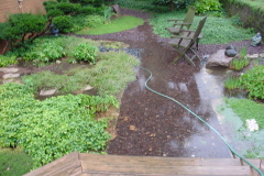 heavy rain floods my japanese garden