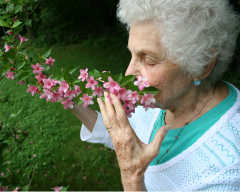 Never to old to stop & smell the flowers