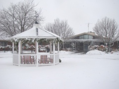 To cold to be in the gazebo