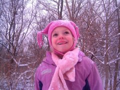 Emily's day in the snow.