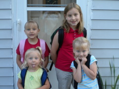 Lindahl Girls First Day of School