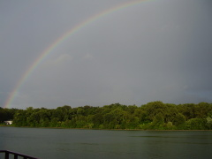 Rainbow over Lake Arlann Pekin Il