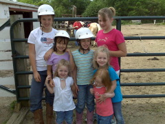 Cousins going horseback riding in Pekin