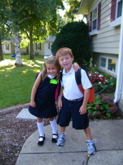 HORRAY...OFF TO KINDERGARTEN & 2ND GRADE
