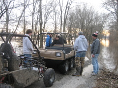 Rural Pontiac Residents use amphibious ATV to Navigate Flood Waters