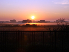 Sunrise over fog in Normal
