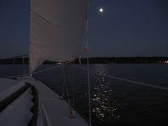 Night sail on the River