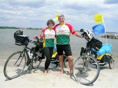 Jerry Lisenby has biked over 400 Miles