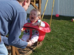 Ryan's first swing ride
