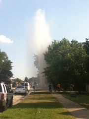 Bring out the swimsuit! Water main break