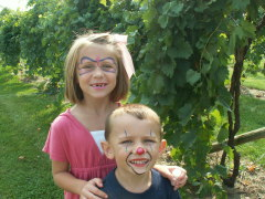 Fun for kids at Mackinaw Grape Stomp
