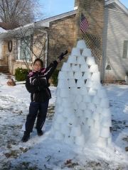 Morgan's snow castle